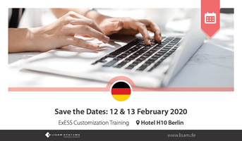 ExESS Customization Training - Save the Dates: 12 & 13 February 2020